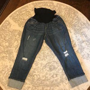 Motherhood Maternity Jeans - Motherhood Maternity Crop Jeans
